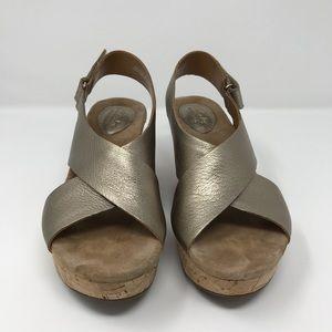 a7b3ff57b28 Clarks Shoes - Clark s Annadel Eirwyn Gold Metallic Wedge Sandal